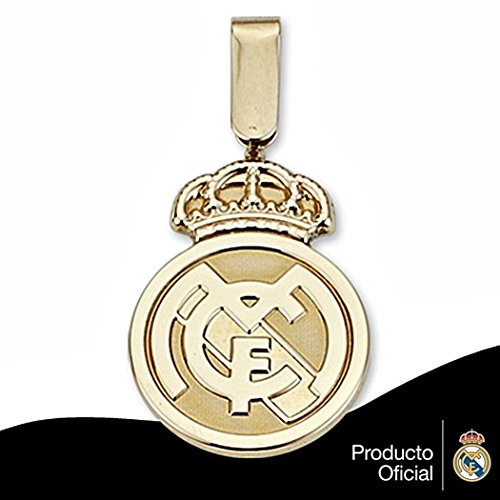 Pendentif Real Madrid bouclier 18k de la loi de 24mm en or. lisser [6568GR] - Modèle: 30-012-L - personnalisable - ENREGISTREMENT inclus dans le prix