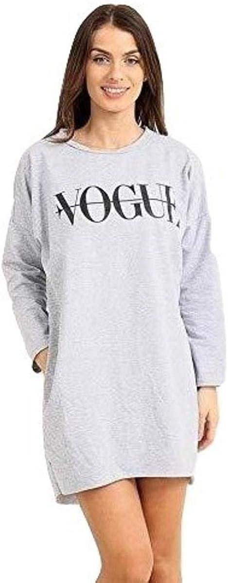 Espania Trading EST Ladies Vogue Oversize Jumper Party Dress Women Long Sleeve Top