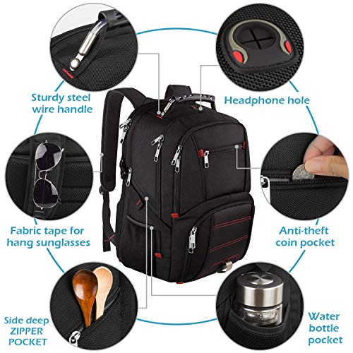 Travel Laptop Backpack,Extra Large Capacity TSA Friendly Anti Theft Backpacks with USB Charging Port,Water-Resistant Men Women Business College Student Computer Bookbag Fits 17 Inch Laptop&Notebook