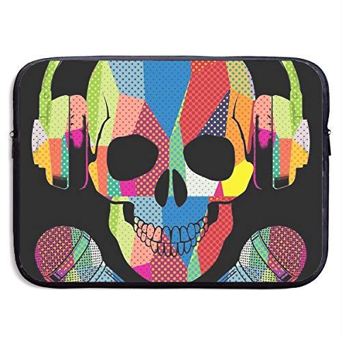 Retro DJ Skull Music Laptop Sleeve Case Bag Cover for Apple MacBook/Asus/Acer/Samsung/DELL/HP/Lenovo/Sony/RCA Computer 13 -
