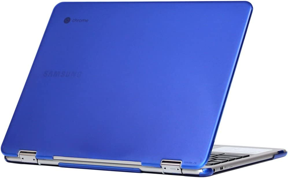 "iPearl mCover Hard Shell Case for 12.3"" Samsung Chromebook Plus XE513C24 Series (NOT Compatible with Older XE303C12 / XE500C12 / XE503C12 Models) Laptop - Chromebook Plus XE513C24 (Blue)"