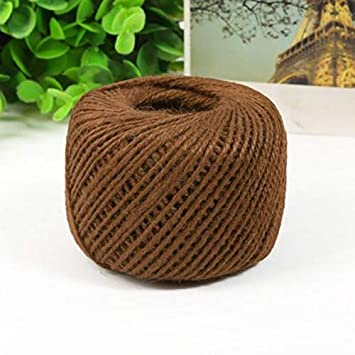 50M Household Office Mutilcolor Ball Of String Burlap Twine Jute Rope Length