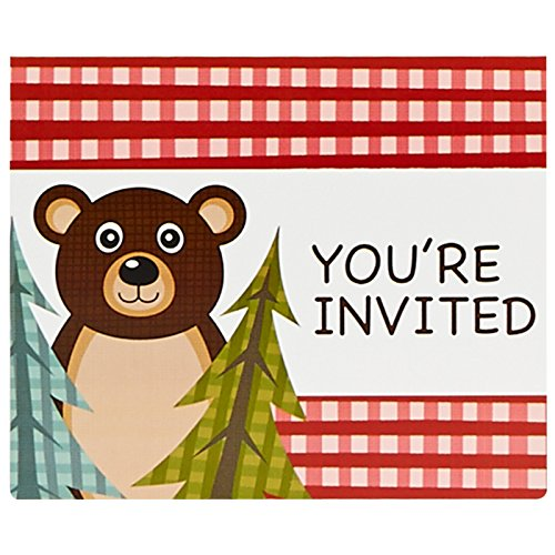 Let's Go Camping Party Supplies - Invitations (8)