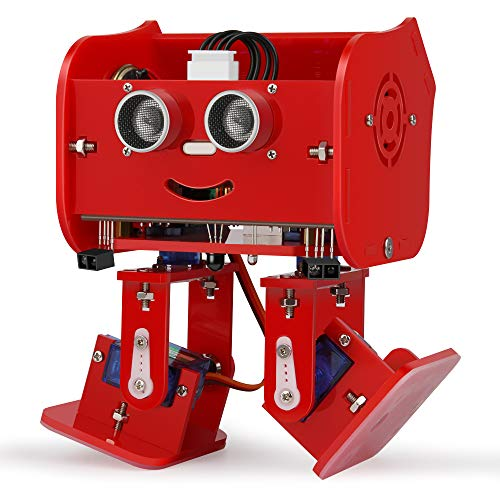 ELEGOO Penguin Bot Biped Robot Kit for Arduino Project with Assembling Tutorial,STEM Kit for Hobbyists, STEM Toys for Kids and Adults, Red Version ()