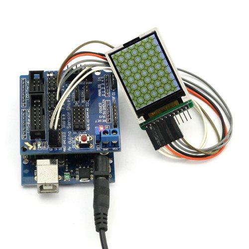 "SainSmart C47 Kit with UNO + Sensor Shield V5 + 1.8"" TFT Color LCD Display Module for Arduino UNO R3 MEGA Mega2560 Nano DUE Duemilanove AVR ATMEL Robot XBee ZigBee"