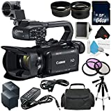 Canon XA11 Compact Professional Camcorder - Full HD with HDMI and Composite Output (PAL)- Bundle with 64GB Memory Card + More