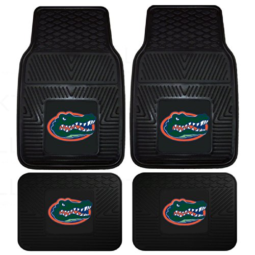 Pacific Mats Car (Officially Licensed NCAA Set of Universal Fit Front and Rear Logo Rubber Automotive Floor Mats - Florida Gators)