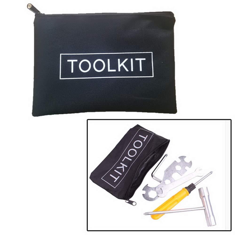 Loweryeah Zipper Canvas Tool Kit Bag Simple Style Canvas Tools Set Bag Black 225165mm 1pcs