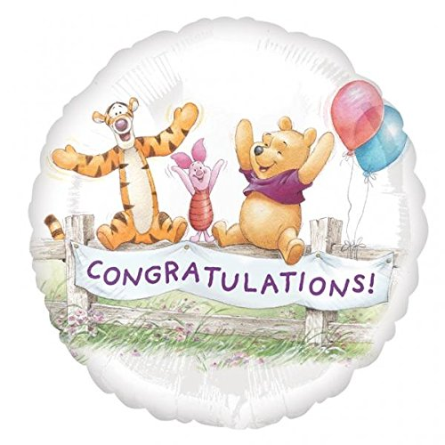 ratulations Foil Mylar Balloon (1ct) (Pooh Foil Balloon)