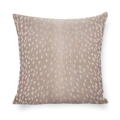 - Antelope Print Pillow Cover Animal Print Accent Cushion Grey White Linen Pillow Cover Fawn Throw Pillow Fawn Throw Pillow Neutral Decor