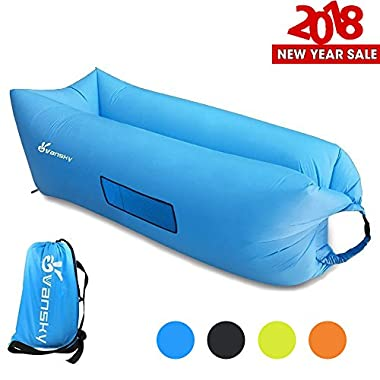 Vansky Inflatable Lounger Hangout Sofa Chair, Hammock Portable Air Filled Couch, Nylon Fabric Waterproof Anti-Air Leaking Carry Bag for Outdoor/Indoor,Camping,Beach,Backyard,Picnics,Music Festivals