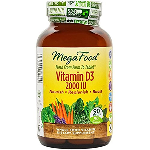 MegaFood - DailyFoods Vitamin D-3 Bioactive Form 2000 IU - 90 Vegetarian Tablets