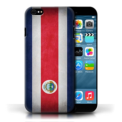 Hülle Case für Apple iPhone 6/6S / Costa Rica/Rican Entwurf / Flagge Collection