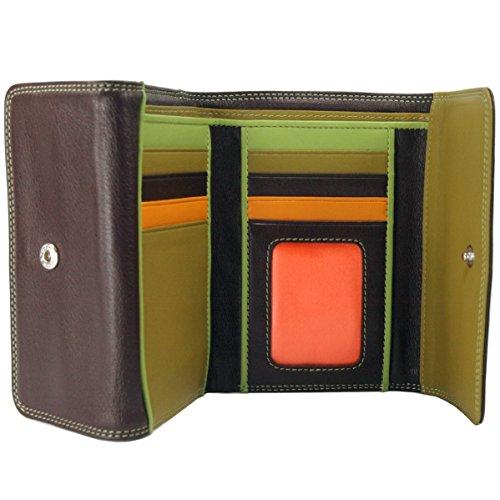 belarno-double-flap-bifold-multi-color-wallet-in-black-rainbow-combination