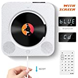 ACOSS Portable CD Player, Bluetooth Wall Mountable CD Music Player with Screen, Home