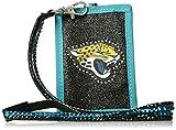 Rico NFL Jacksonville Jaguars Beaded Gem Lanyard with ID Wallet