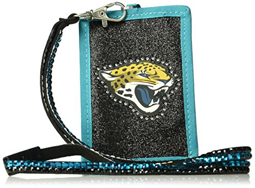 Rico NFL Jacksonville Jaguars Beaded Gem Lanyard with ID Wallet by Rico
