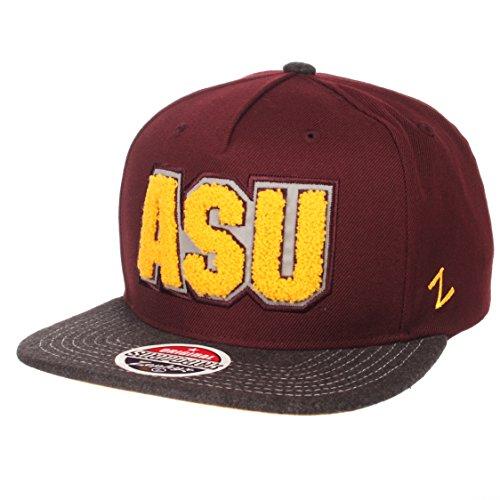 Zephyr NCAA Arizona State Sun Devils Men's Jock Snapback Hat, Adjustable, Gray/Team Color