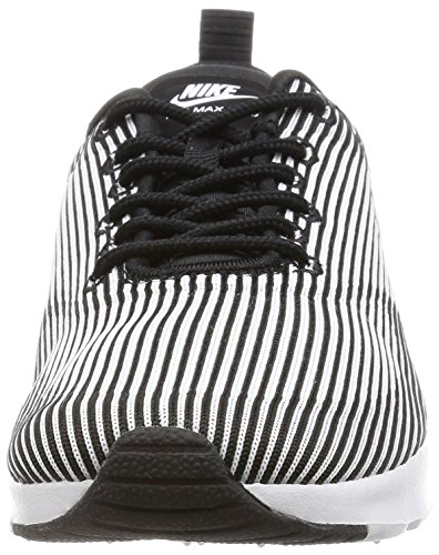 Nike W Air Max Thea Kjcrd, Zapatillas de Deporte para Mujer Negro (Black / White-Metallic Silver)