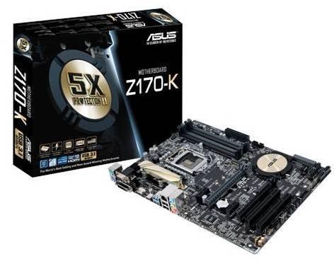 Photo - Bundle: ASUS Z170-K + Core i5 6500 (4 x 3.2GHz) + 16GB DDR4 2133MHz Memory