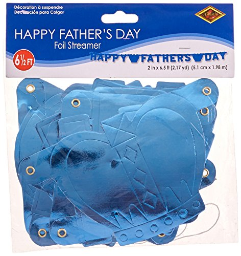 Foil Happy Father's Day Streamer Party Accessory (1 count) (1/Pkg) for $<!--$2.29-->