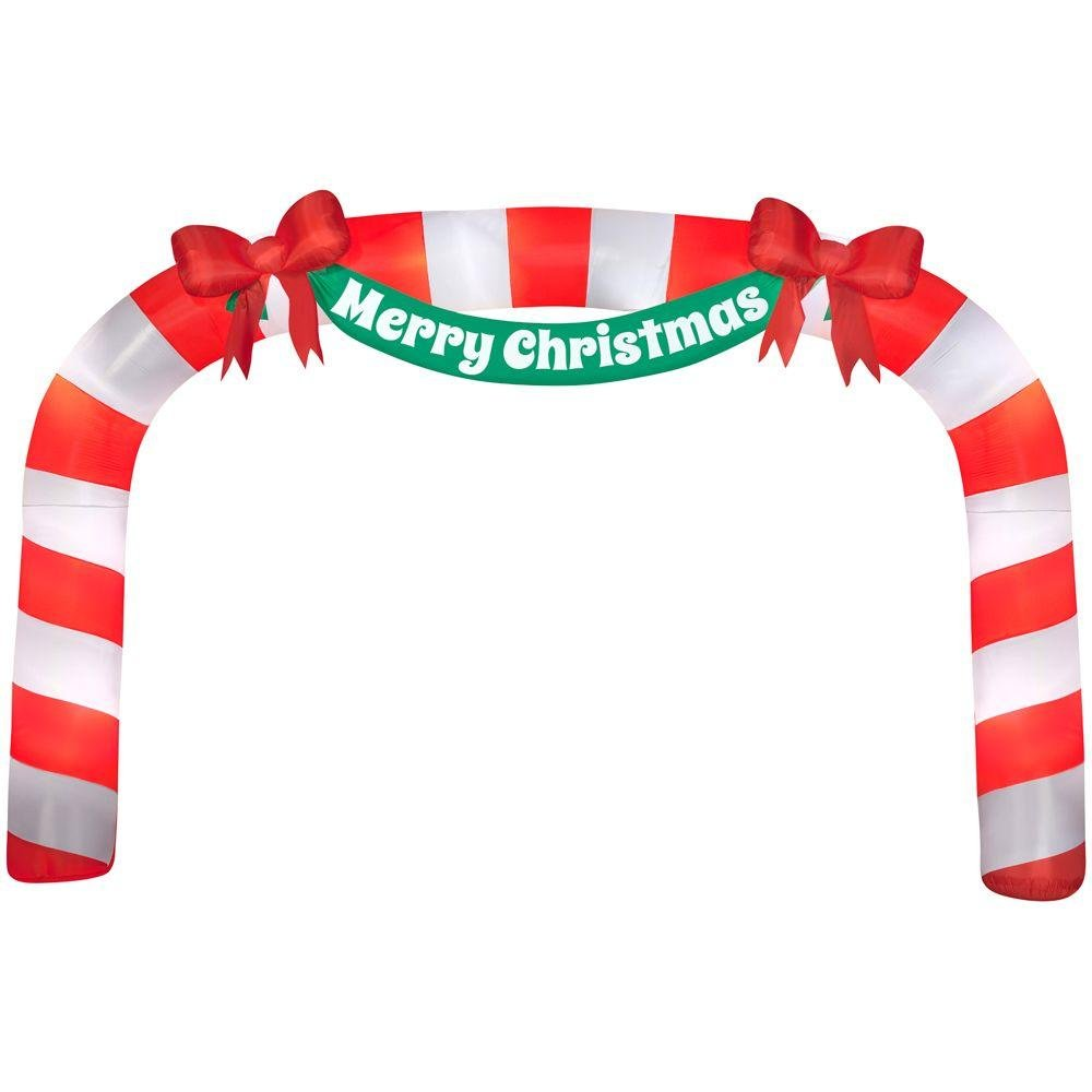 Home Accents Holiday 23 ft Giant Candy Cane Archway inflatable