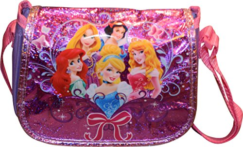 Disney Princesses Small Girl's Messenger Style Crossbody Purse Disney Messenger