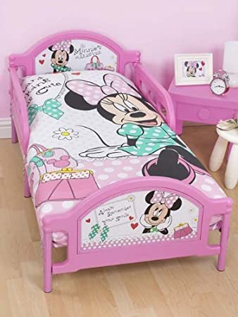 Minnie Mouse Makeover Toddler Bed + Deluxe Foam Mattress: Amazon.co ...