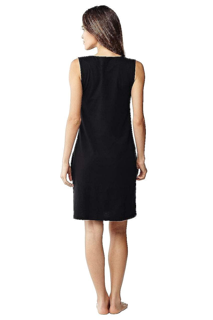 9d4caebc5c Lands' End Women's Cotton Jersey Sleeveless Tunic Dress Swim Cover-up at  Amazon Women's Clothing store: