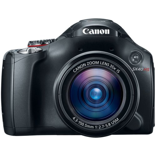 Canon SX40 HS 12.1MP Digital Camera with 35x Wide Angle Optical Image Stabilized Zoom and 2.7-Inch Vari-Angle Wide LCD (12.1 Mp Digital Camera)
