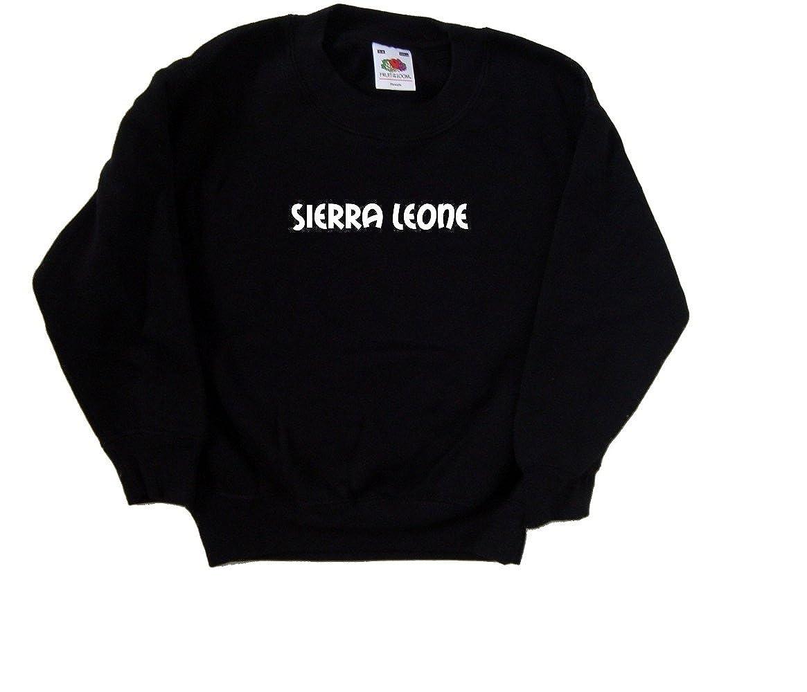 Sierra Leone text Black Kids Sweatshirt