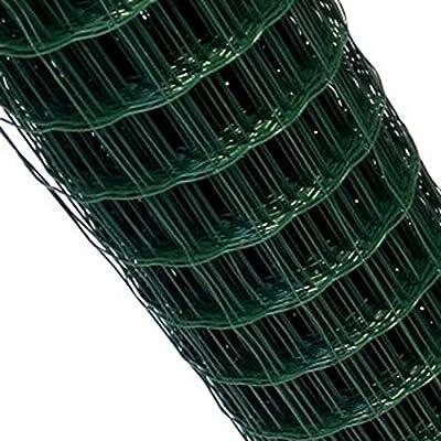 Top-Multi Maschendrahtzaun Set Wildzaun Gartenzaun PVC-beschichtet GR/ÜN 0,8m x 25m