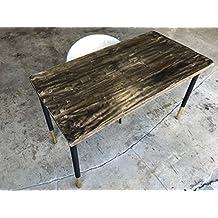 UMBUZÖ Solid Reclaimed Wood & Steel Desk