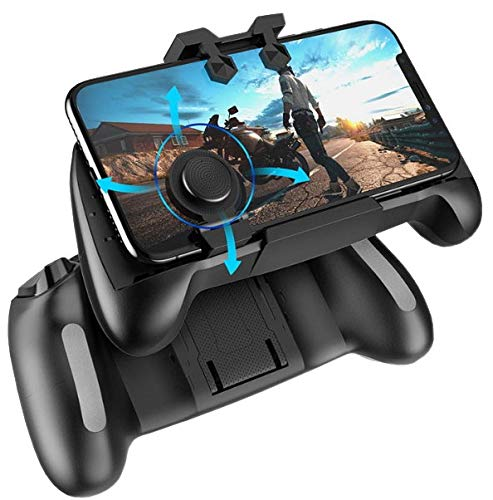2019 Updated All-In-One Mobile Game Controller Compatible Play With Fortnite/PUBG and More-Fits All iPhones & Android Smart Phones - Movable Mouse For Left & Right Handed Players-Fixed Gaming Triggers