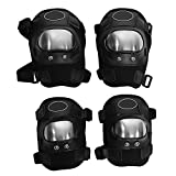 Anauto 4 pcs Motorcycle Motocross Cycling Elbow and Knee Pads Protector Guard Armors Set Black