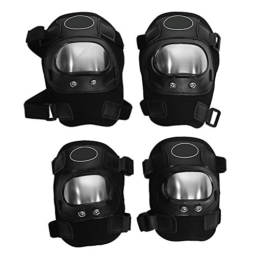 Anauto 4 pcs Motorcycle Motocross Cycling Elbow and Knee Pads Protector Guard Armors Set Black by Anauto