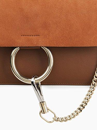 Bag Chain Brown Crossbody Purse Genuine Chain Purse Women Shoulder Shoulder with Leather FY Fashion x4SYOqw7