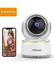 Mibao 1080P Telecamera Sorveglianza Wifi Camera IP Wireless Interno con Visione Notturna, Rilevamento Movimento, Allarme via Email, Pet/Elderly/Baby Monitor, Compatibile con iOS e Android e PC