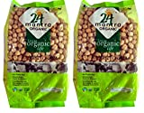 Organic Chana Dal White - Organic Chickpea Kabuli Dollar (Garbanzo Beans) Bulk - ★ USDA Certified Organic - ★ European Union Certified Organic - ★ Pesticides Free - ★ Adulteration Free - ★ Sodium Free - Pack of 2 X 2 Lbs (4 Pounds) - 24 Mantra Organic