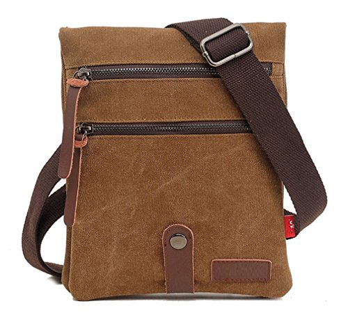 bagtopia-unisex-vintage-small-canvas-bag-messenger-crossbody-bag-with-zipper-coffee