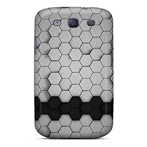High Quality Casesmore166 Hexagons 3d Skin Cases Covers Specially Designed For Galaxy - S3 Black Friday