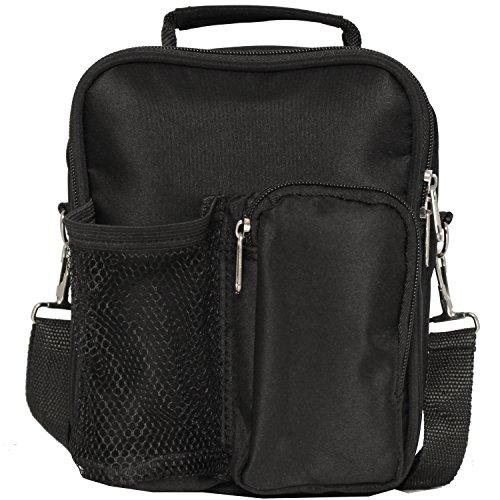 World Traveler 9 Inch Crossbody Day Pack, Black, One Size (Cross Body Traveler)