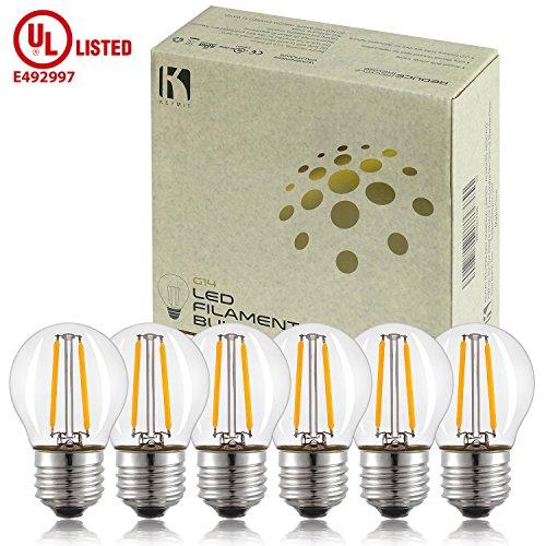 Cheap  Keymit E26 Base G14 2W LED Small Globe Bulb 1.77 BY 3.07..