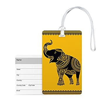 100yellow Multicolor Luggage Tag
