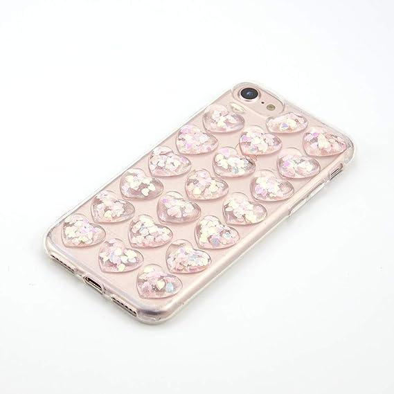 394433aae2 VISHTEA Heart Shape 3D Bubble Case iPhone iPhone 8 Case/iPhone 7 for iPhone  8