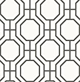 A-Street Prints 2625-21844 Circuit Modern Ironwork Wallpaper, Black