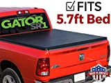 Gator SR1 Roll-Up (fits) 2009-2018 Dodge Ram 5.7 FT Bed Only No RamBox Soft Roll Up Tonneau Truck Bed Cover (55202) Made in the USA (Includes 2019 Classic Models)