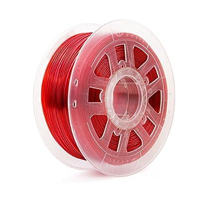 Gizmo Dorks 1.75mm PETG Filament 1kg /2.2lbs for 3D Printers, Translucent Red