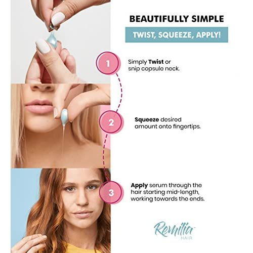 Remilia Keratin Hair Treatment, Made in Italy No Sulfate Serum With Vitamin B5 & Amino Acids For Dry, Damaged Hair Of All Types, Deep Conditioning Repair For Women & Men, Anti Frizz & Color Safe