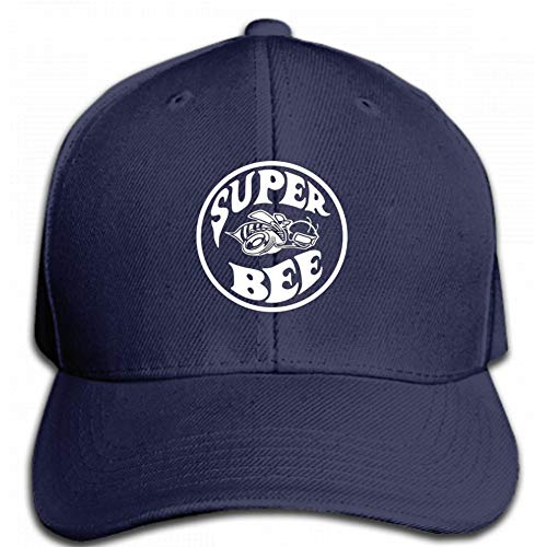 Vdaras Mens Hat Adult Super Bee Racing Charger RAM Racing Mopar Dodge Baseball Caps Navy Blue ()